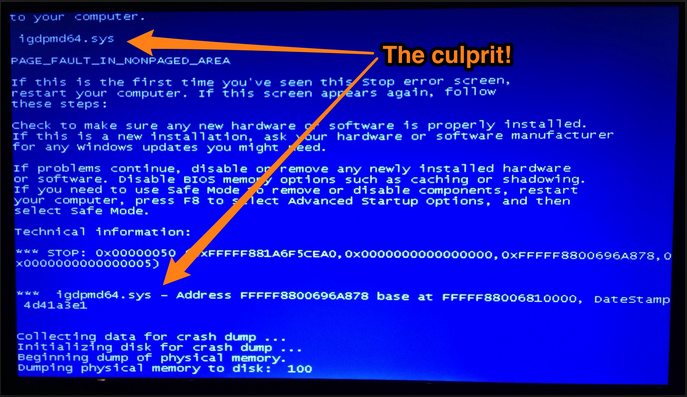 photo -Blue Screen Of Death
