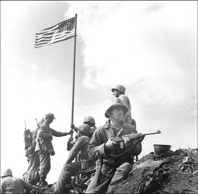 photo flag raising Iwo Jima