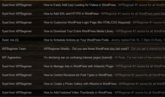 photo WP Beginners emails