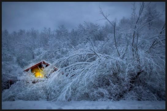 photo snow scene