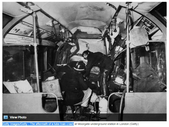 photo-Getty Images-Getty - The aftermath of a tube train crash