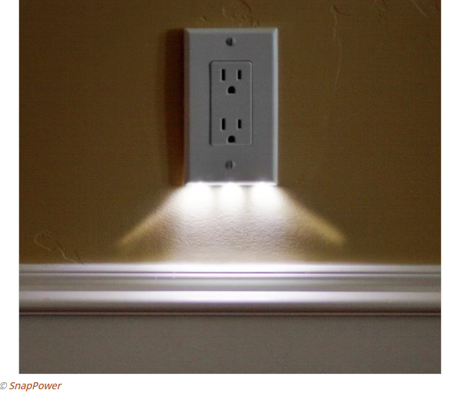 photo--LED night light outlet covers