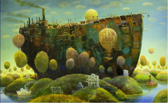 photo--All Aboard This Artist's Paintings Which Transport You to Another World