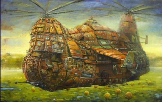 photo-All Aboard This Artist's Paintings Which Transport You to Another World
