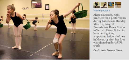 photo-Utah girl dances solo 9 months after losing foot in accident _ Deseret News