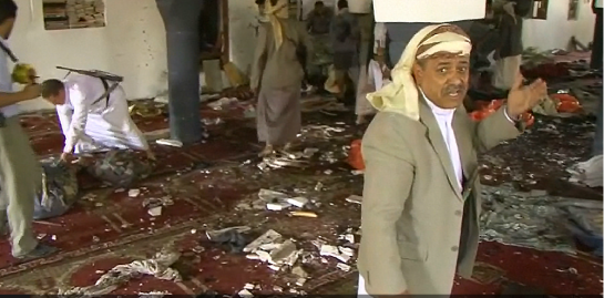 photo-Yemen Blasts_ Suicide Bombers Strike Sanaa Mosques, Killing 137 People - NBC New