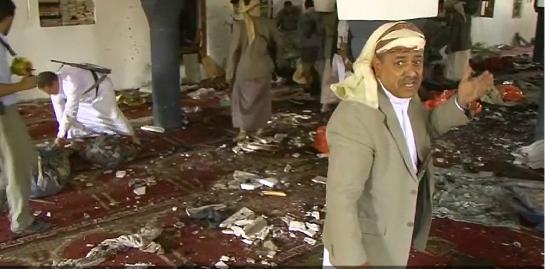 photo-Yemen Blasts_ Suicide Bombers Strike Sanaa Mosques, Killing 137 People - NBC New