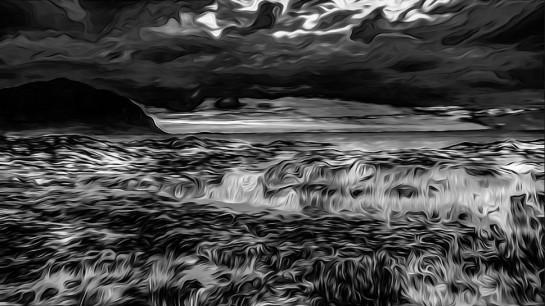 photo-Ominous Wavy Landscape -Ron Fleishman