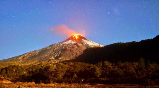 photo-Villarrica volcano